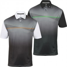 Island Green 2017 IGTS 1639 White Charcoal polo shirt
